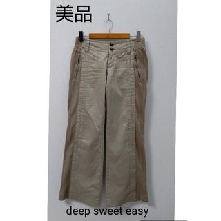 ディープスウィートイージー(deep sweet easy)の美品  deep sweet easy ベージュ 切り替えパンツ(カジュアルパンツ)