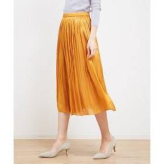 ルージュヴィフラクレ(Rouge vif la cle)のルージュヴィフラクレ サテンプリーツスカート (ロングスカート)