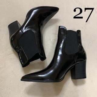 フォーエバートゥエンティーワン(FOREVER 21)の新品タグ付 シンプル きれいめ 美脚 サイドゴアブーツ 10(ブーツ)