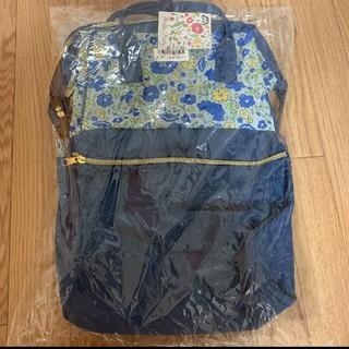 サンリオ - ハローキティ がま口リュック 花柄 ブルー