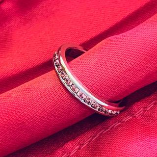 キュービックジルコニア ダイヤモンド エタニティリング ピンク(リング(指輪))