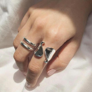 TODAYFUL - tear drop ring silver925 2点セット