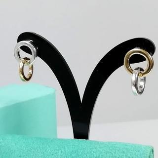 ティファニー(Tiffany & Co.)の希少 美品 ティファニー シルバー ゴールド コンビ ピアス AN42(ピアス)