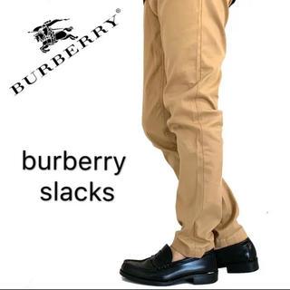 バーバリー(BURBERRY)のburberry  バーバリー チノパン ストレート メンズ 着画 ベージュ(チノパン)