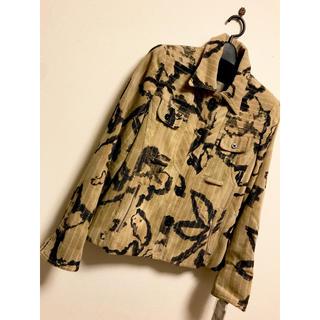 リリーブラウン(Lily Brown)の長袖 コート レオパード ショート 上着 11号 l ジャケット 黒 柄 高級(テーラードジャケット)