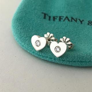 ティファニー(Tiffany & Co.)のTiffany ハートダイヤモンド ピアス 希少(ピアス)