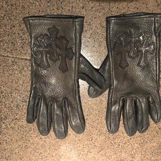 クロムハーツ(Chrome Hearts)のクロムハーツレザーグローブ皮手袋chrome hearts(手袋)