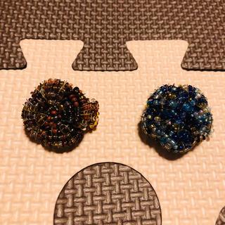 新品未使用 リング二個 ブラウンとブルー(リング(指輪))