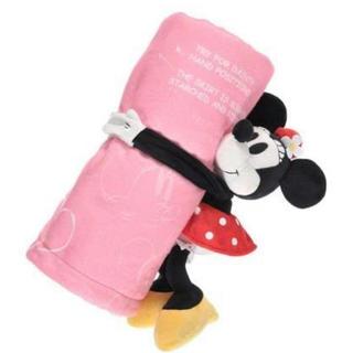 ミニーマウス(ミニーマウス)のミニー  ブランケット  ぬいぐるみ付き(キャラクターグッズ)