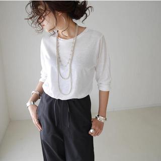 ドゥーズィエムクラス(DEUXIEME CLASSE)のargue premiam sheer t-shirt /white(Tシャツ/カットソー(七分/長袖))