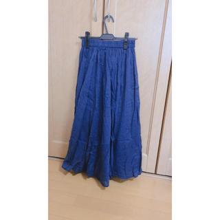 サマンサモスモス(SM2)の試着のみ未使用 サマンサモスモスブルー ロングスカート(ロングスカート)