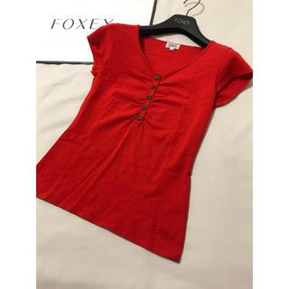 フォクシー(FOXEY)の美品 foxey レーヨンブレンド カットソー フォクシー(カットソー(半袖/袖なし))