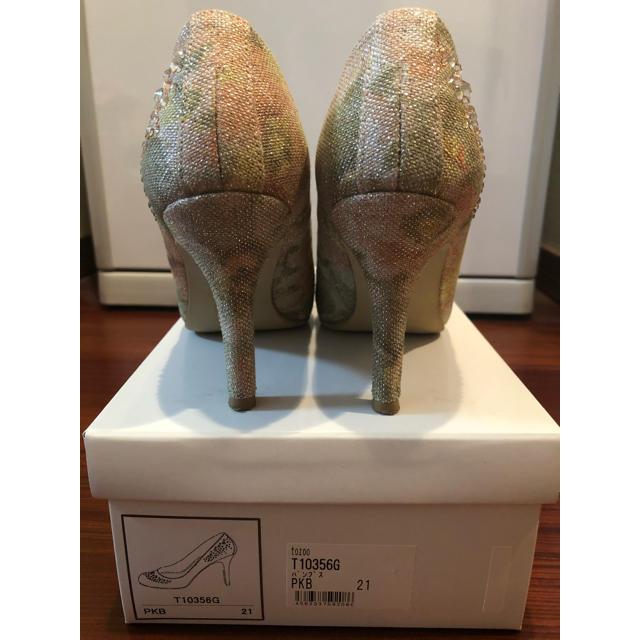 美品★マルイ購入★tozooスワロフスキー付きモザイクフラワーパンプス21cm レディースの靴/シューズ(ハイヒール/パンプス)の商品写真