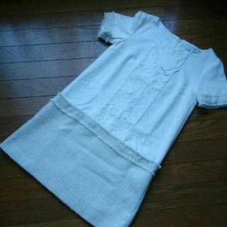 マーキュリーデュオ(MERCURYDUO)の⭐マーキュリーデュオ 白 半袖 切り替えワンピース⭐(ミニワンピース)