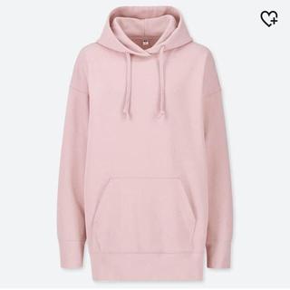 UNIQLO - UNIQLO ビッグスウェットパーカー ピンク