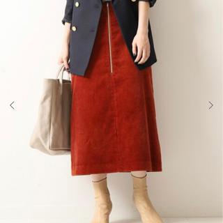 スピックアンドスパン(Spick and Span)のSpick & span コーデュロイスカート(ひざ丈スカート)