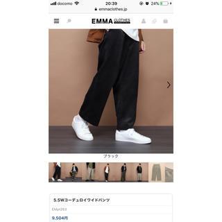 アーバンリサーチ(URBAN RESEARCH)の【Emma Clothes】5.5Wコーデュロイワイドパンツ(スラックス)
