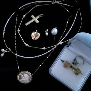 タサキ(TASAKI)のK18  プラチナ リング ネックレス  まとめ売り (リング(指輪))