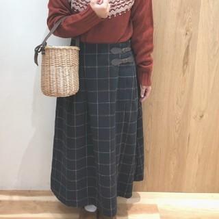 サマンサモスモス(SM2)のSM2 サマンサモスモス チェックベルト付スカート (ロングスカート)