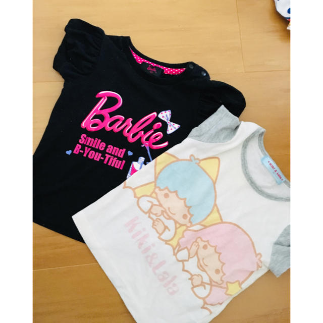 Barbie(バービー)の即購入OK❤️Tシャツ2枚セット キッズ/ベビー/マタニティのキッズ服 女の子用(90cm~)(Tシャツ/カットソー)の商品写真