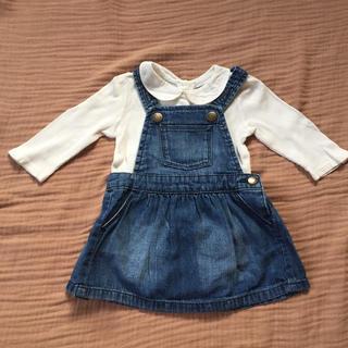 ベビーギャップ(babyGAP)のbabyGAP デニム ジャンパースカート 70(スカート)