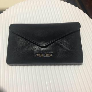 ミュウミュウ(miumiu)のmiumiu★黒長財布(長財布)