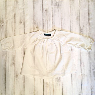 ■サイズ130〜140/チビ襟ブラウス/オフホワイト(ブラウス)
