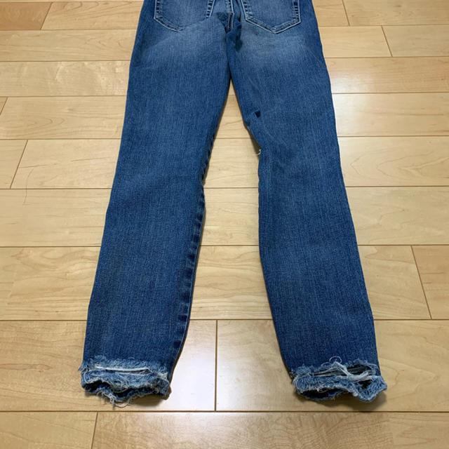 rienda(リエンダ)のリエンダ クラッシュパギンスデニム size24 A63 レディースのパンツ(スキニーパンツ)の商品写真
