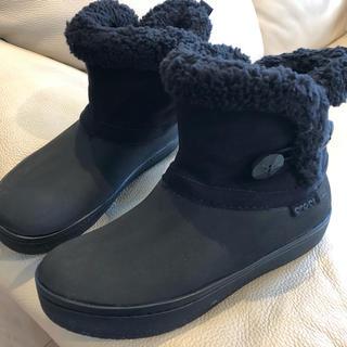 クロックス(crocs)のクロックス ショートボアブーツ  黒(ブーツ)