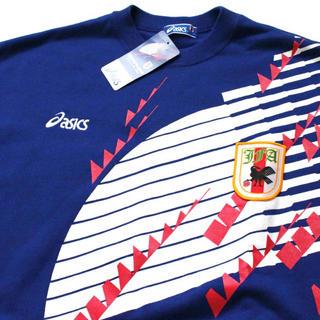 アシックス(asics)のasics 日本代表 ドーハの悲劇 オフィシャル スウェットシャツ Lトレーナー(ウェア)