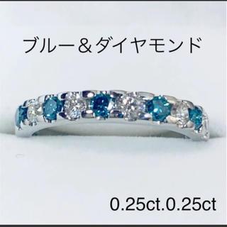 プラチナ ブルー&ダイヤモンド リング(リング(指輪))