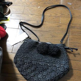 サマンサモスモス(SM2)のサマンサモスモス  巾着型ポンポン付きショルダーバッグ  新品、未使用(ショルダーバッグ)