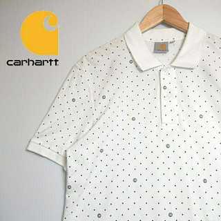 カーハート(carhartt)のK030 カーハート ホワイト ポロシャツ Carhartt 人気 カワイイ(ポロシャツ)