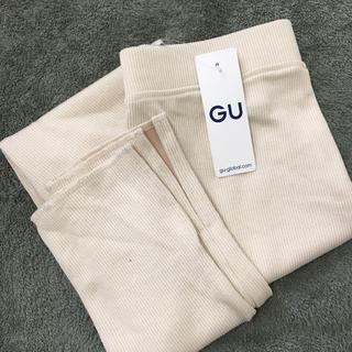 GU - GU リブスリット レギンスパンツ