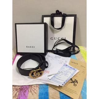 Gucci - GUCCI ダブルGバックル レザーベルト