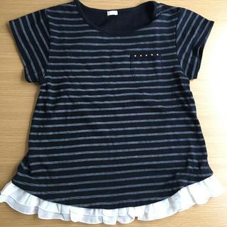 GU - GU 半袖ボーダーTシャツ 130㎝ ⭐️まとめ買い割引あり⭐️