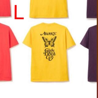AWAKE - awake gdc girls don't cry logo tee 黄色