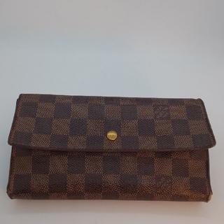 LOUIS VUITTON - ルイヴィトン三つ折りダミエ財布