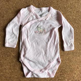 プチバトー(PETIT BATEAU)のプチバトークルーネックボディ 新生児〜3ヶ月(肌着/下着)