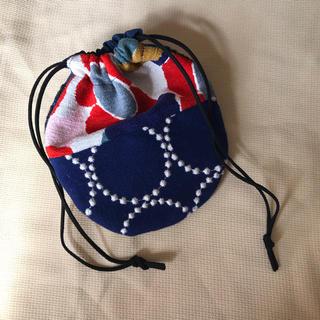 ミナペルホネン(mina perhonen)のハンドメイド ミナペルホネン 巾着 パッチワーク ポーチ タンバリン(ポーチ)