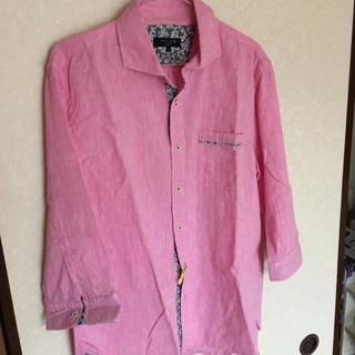 ポロハーフシャツ(ピンク)LL(ポロシャツ)