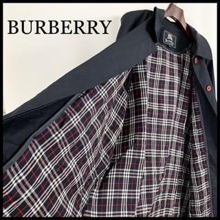 BURBERRY - BURBERRY バーバリー ステンカラーコート 濃紺 ライナー付 美品