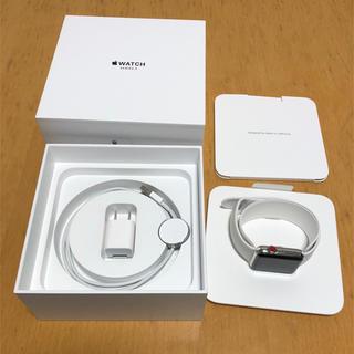 アップルウォッチ(Apple Watch)のApple Watch SERIES 3 42mm ステンレス Cellular(スマートフォン本体)