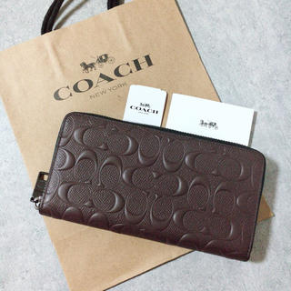 COACH - 新品 COACH 長財布 人気 マホガニー ブラウン