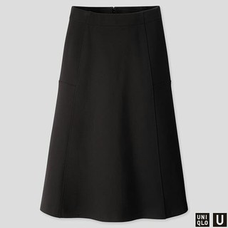 UNIQLO - UNIQLO ジャージーフレアスカート ブラック XXL