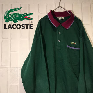 LACOSTE - 【オススメ】フランス製 シュミーズ ラコステ ポロシャツ ワンポイントロゴ