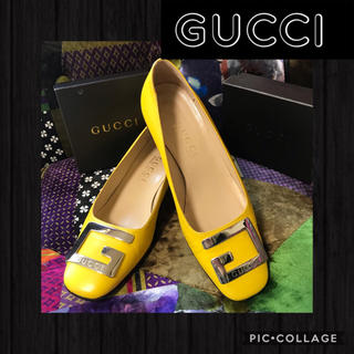 Gucci - 正規品✩.*GUCCIグッチ♪。Gロゴ金具パンプス♪綺麗グッチパンプス✩.