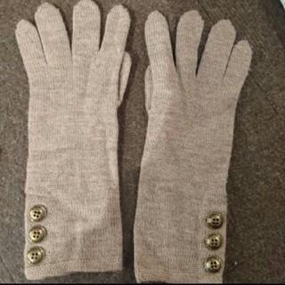 バーバリー(BURBERRY)のBURBERRY 手袋ウールニットレディースボタン裏地チェック柄(手袋)