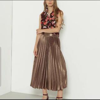 GRACE CONTINENTAL - グレースコンチネンタル 箔ロングスカート