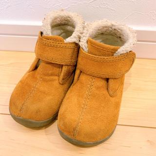 ムジルシリョウヒン(MUJI (無印良品))の無印良品 茶 ムートンブーツ 14.0cm(ブーツ)